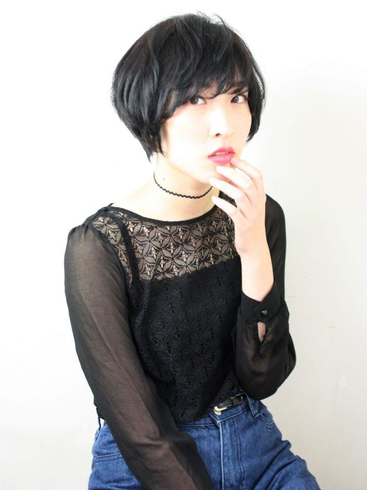 秋の黒髪ショートstyle♪