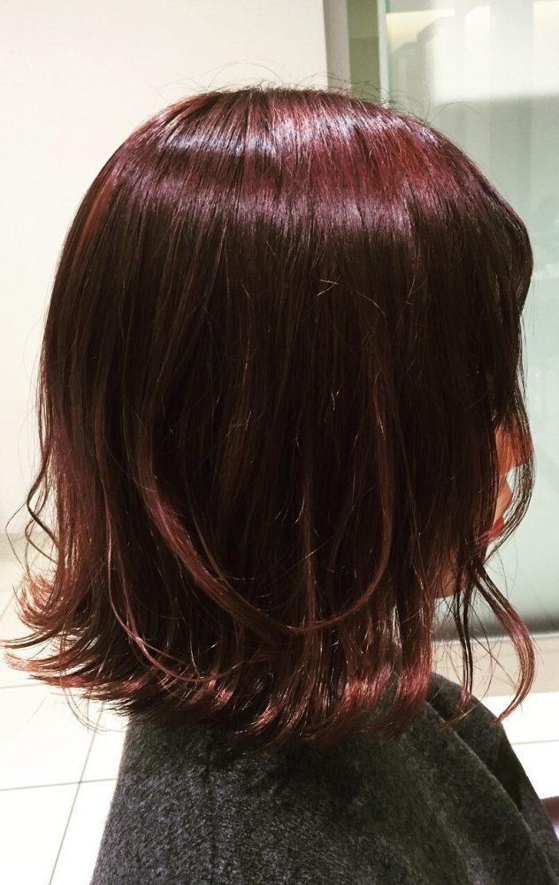 冬の赤みカラー