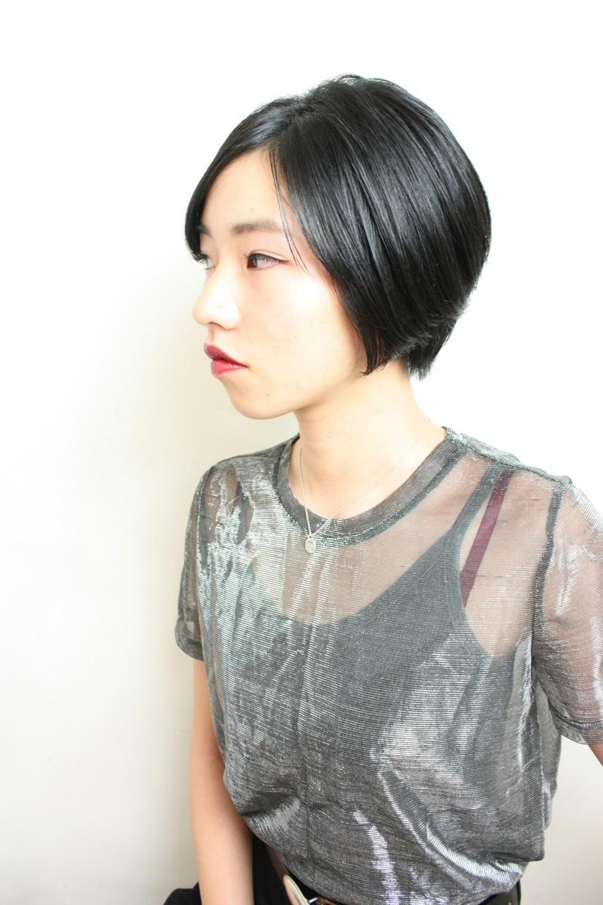 艶髪ショート