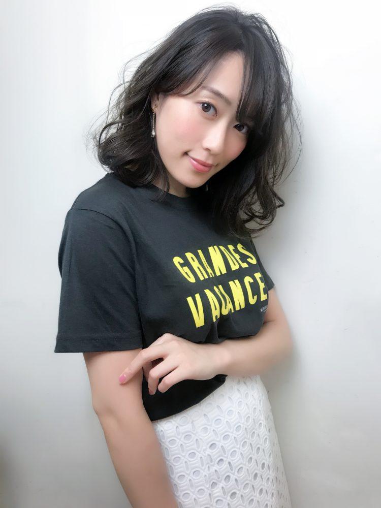 透けバングスタイル☆