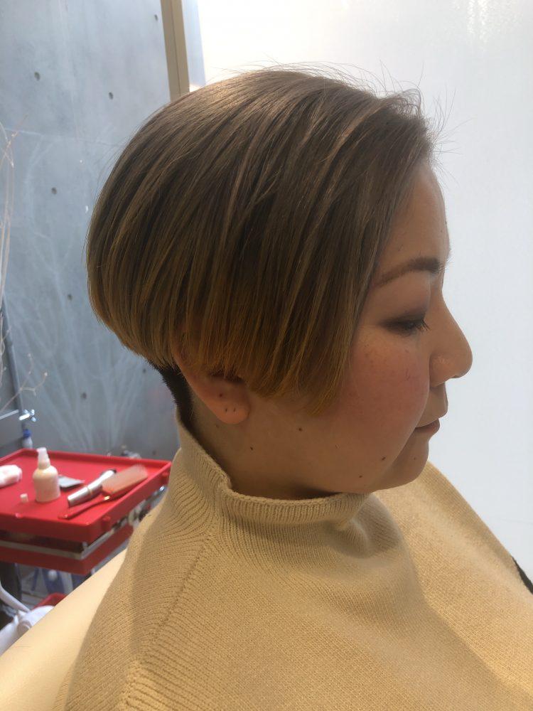 2019年の1発目のショートヘア!