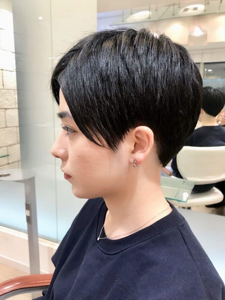 お客様Style 〜黒髪を活かした刈り上げベリーショート〜