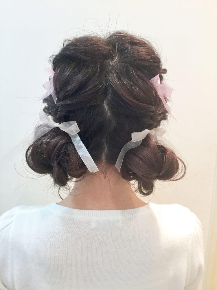 成人式の前撮りヘア