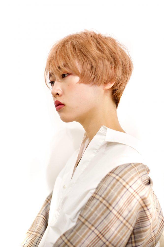 【RENJISHI】ペールオレンジのベリーショート [坂手 開]