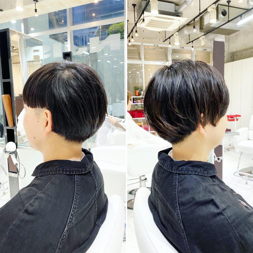 前髪で変える!アシンメトリーショート!