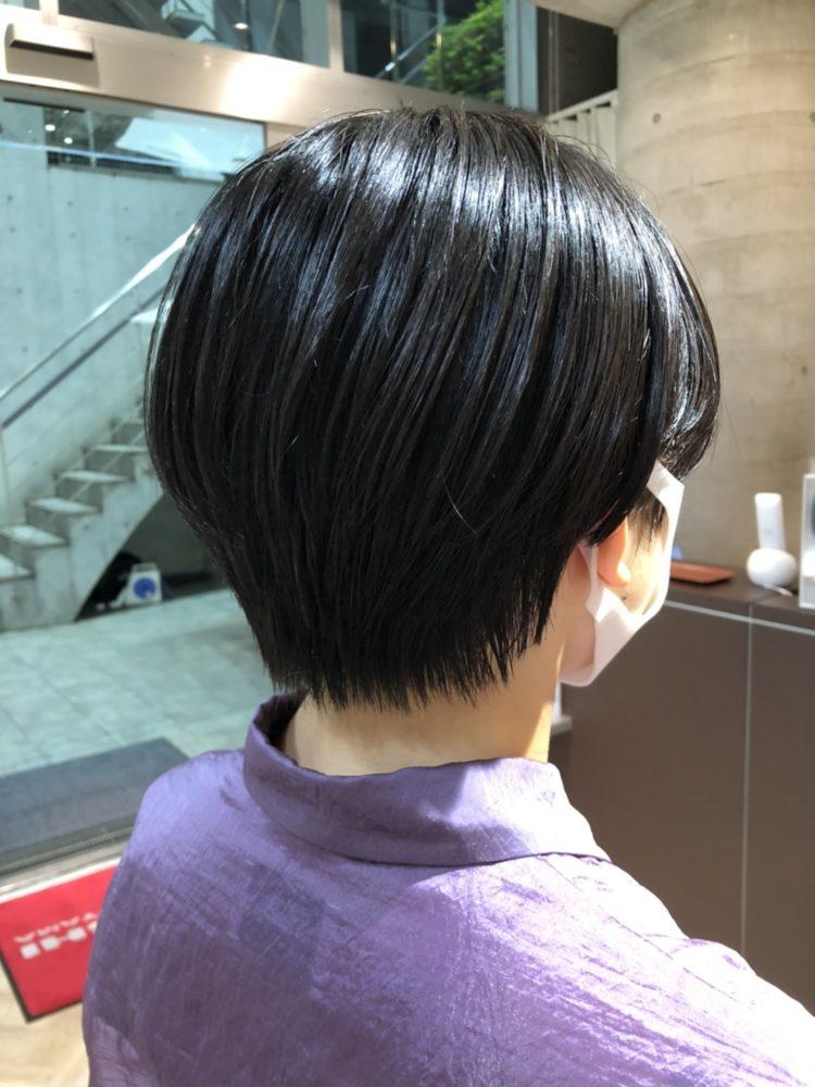 黒髪ハンサムショート〜お客様スタイル〜